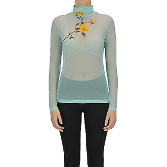 Dries Van Noten Ezgl093159 Women's Green Nylon Sweater