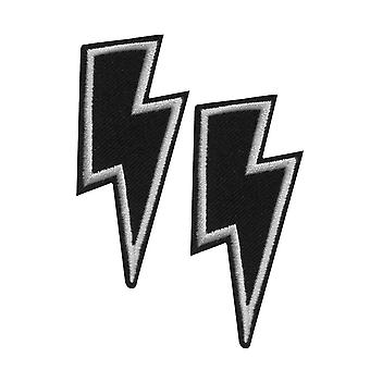 Attitude Clothing Lightning Bolt Iron-On Patches