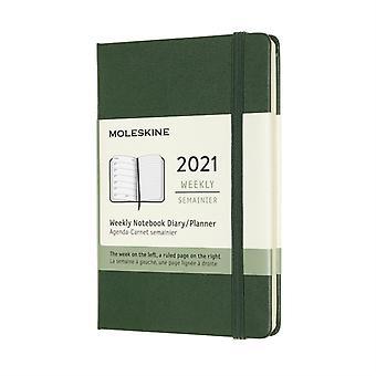 2021 12M Wkly Ntbk Pock Myrtle Green HD