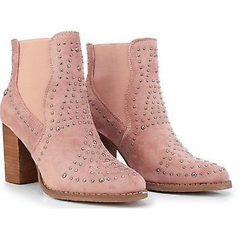 Xti Stud Detail Block Heel Ankle Boots