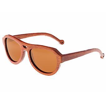 Earth Wood Coronado Polarized Sunglasses - Red Rosewood/Brown