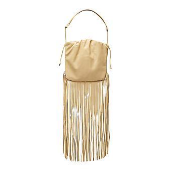 Bottega Veneta 630363vcp409403 Women's Yellow Leather Shoulder Bag