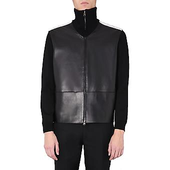 Alexander Mcqueen 603460q5hsp1135 Herren's Schwarz Leder Outerwear Jacke