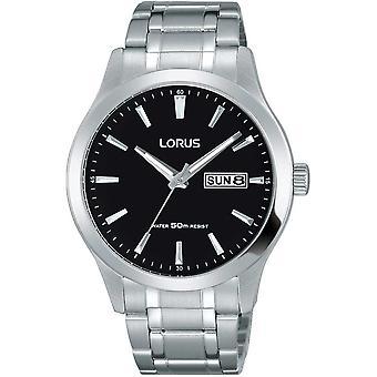 Lorus RXN23DX-9 Black Dial Stainless Steel Wristwatch