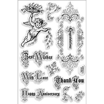 Stampendous Perfectly Clear Stamps 4'X6' Sheet Cherub Wishes
