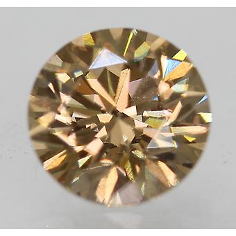 Cert 0,70 karaatin int ruskea VVS1 pyöreä loistava parannettu luonnollinen timantti 5,58 mm