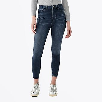 DL1961  - Chrissy Ultra-High Rise Instasculpt Skinny Jeans - Blue