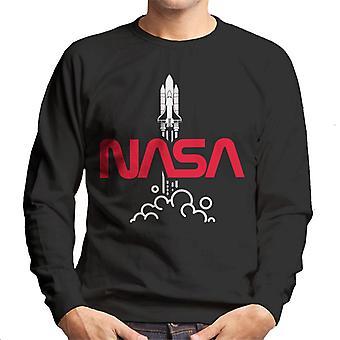 NASA Shuttle lancio Logo Felpa