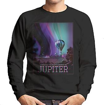 La NASA aurores de Jupiter interplanétaire voyagent Sweatshirt affiche masculine