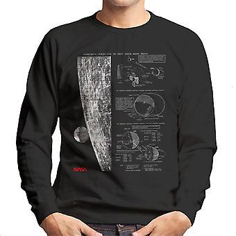 NASA geometrisch Lunar perspectief van aarde mannen Sweatshirt