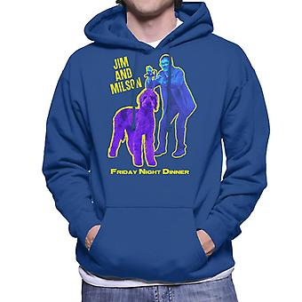 Friday Night Dinner Jim And Wilson Blue And Purple Men's Hooded Sweatshirt