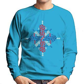 Pepsi Cola Logo Schneeflocke Weihnachten Männer's Sweatshirt