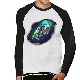 Motorsport Images Valentino Rossi Nebula Design Men-apos;s Baseball Long Sleeved T-Shirt