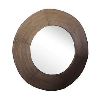 Deco4yourhome Wooden Mirror Round