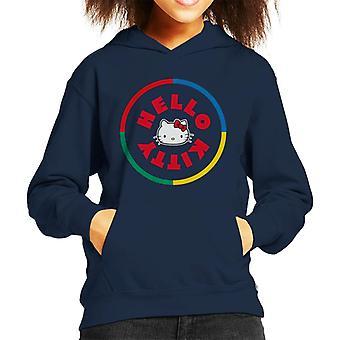 Hallo Kitty bunte Kreis Kid's Kapuzen Sweatshirt