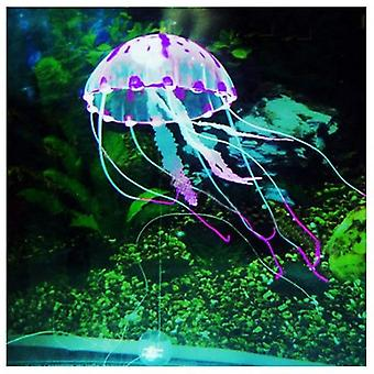 Artificial Swim Glowing Effect Jellyfish Aquarium Fish Tank Underwater Live