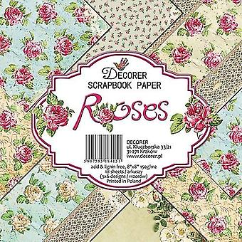 Decorer Roses 8x8 Inch Paper Pack