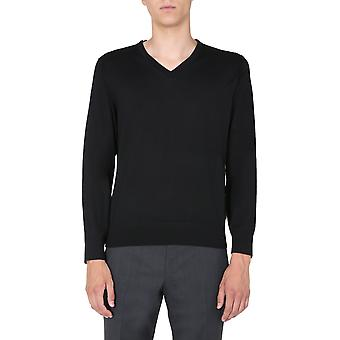 Z Zegna Vvm96zz100k09 Men's Black Wool Sweater
