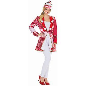Takki Punainen/Valkoinen Frack Naisten Carnival Puku Närrin