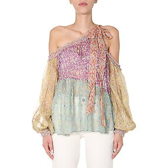 Zimmermann 8810tcarspli Women's Multicolor Silk Top