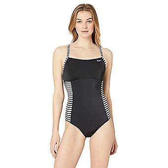 Nike Schwimmen Frauen's Laser Stripe Crossback Einstück Badeanzug, Fuchsia Blast, M...