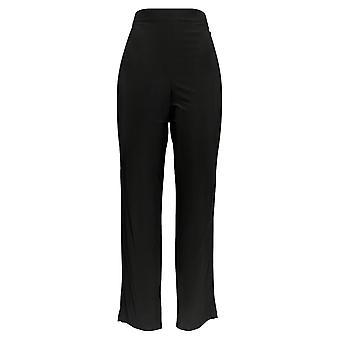 Serengeti Women's Pants Pull-on Elastic Waistband Knit Black