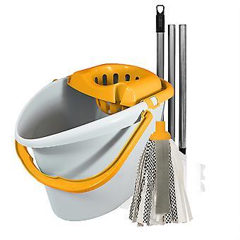 Charles Bentley 'Brights' Yellow Mop & Bucket Set