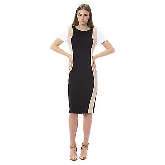 Trussardi Jeans K Black- Nude- White Dress TR996614-IT40-XS