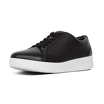 FitFlop Rally™ Leather Sneakers In Black