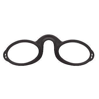 Leesbril Unisex Neuslezer Zwarte Sterkte +2.00