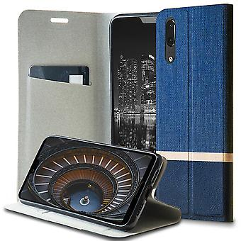 Shell for Huawei P20 Blue Denim Case Jeans