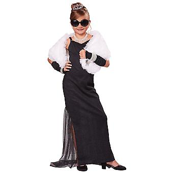Hollywood Diva Red Carpet Starlet Audrey Hepburn Celebrity Child Girls Costume