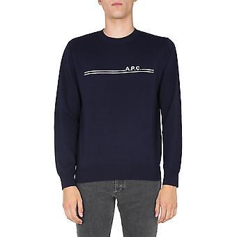 A.p.c. Coddah23866iak Men's Blue Cotton Sweater