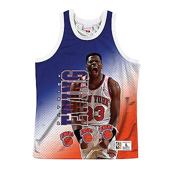 Mitchell & Ness Nba Behind The Back Tank New York Knicks Patrick Eling MSTKMAI19002NYKWHITPEW basket-ball toute l'année hommes t-shirt