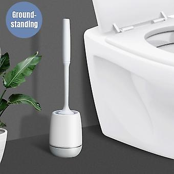 Pp+tpr Silicone Toilet Brush With Holder For Toilet Cleaning