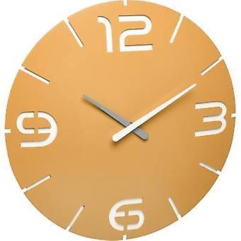 TFA Dostmann 60.3536.07 Radio Wall clock 350 mm x 35 mm Sun yellow