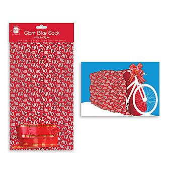 Giftmaker Christmas Giant Bike Sack4 Bow Gift Bag Large Present Wrap 72x40x10cm