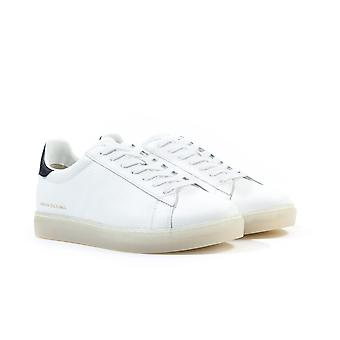 Armani Exchange Lace Up White Leather Trainers