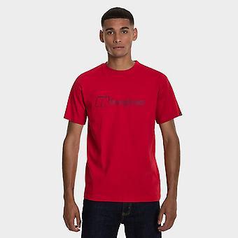 Uusi Berghaus Men's Modern Logo T-paita Punainen