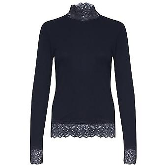 b.young Toella Black Lace Detailed Top