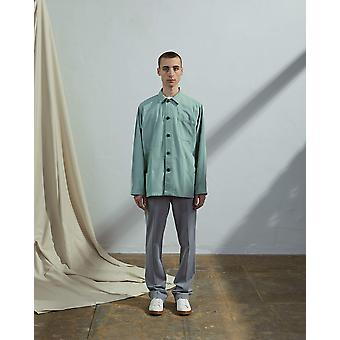 The #3004 buttoned jacket jade