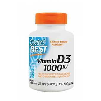 Lääkärit Paras D3-vitamiini, 1000 IU, 180 Softgels