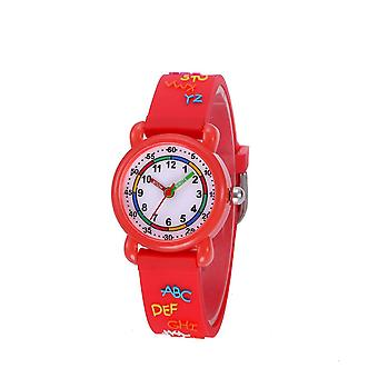 Waterproof Luminous LED Digital Touch Children watch  - red