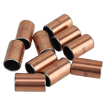 10 x Self Lubricating Steel Copper Plated Carbon Bearing Sleeves 10x12x20mm