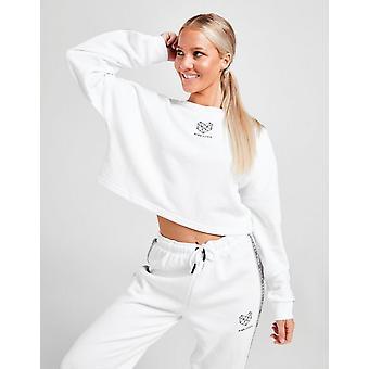 Nieuwe Pink Soda Sport Women's Tape Crew Sweatshirt White