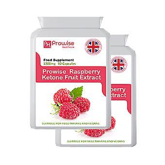 Raspberry Ketones Super Strength 60 Capsules Pack of 2 | Suitable For Vegetarians & Vegans