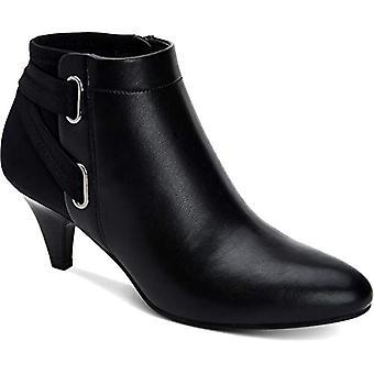 Alfani Womens Vashtee Strappy Mixed Media Ankle Boots