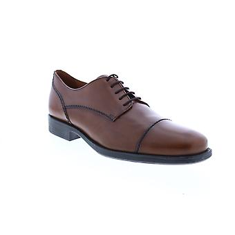 Geox U Federico A Mens Brown Leather Oxfords & Lace Ups Cap Toe Shoes