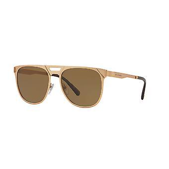 Bvlgari BV5048K 200683 Matte Pink Gold Plated/Polarised Brown Sunglasses