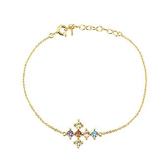 Sterling Rainbow Cross Zircon, Cz Hoops Pendiente Piercing Ohrringe Armbånd &